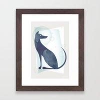 Mid-Century Canine Framed Art Print