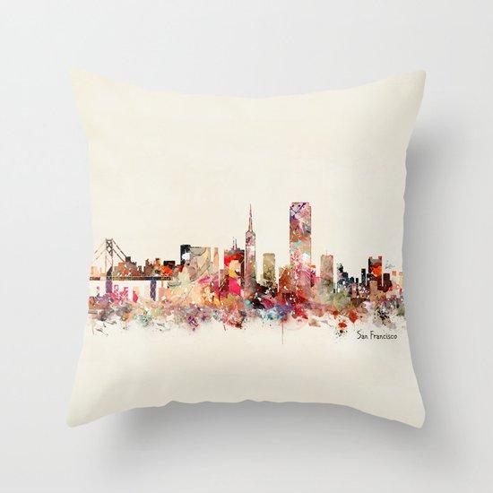 San Francisco city Throw Pillow