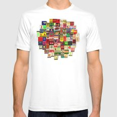 82 Matchbooks SMALL Mens Fitted Tee White