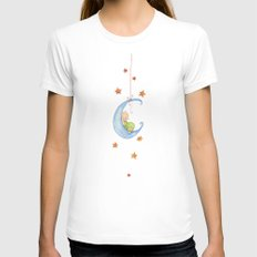 Baby moon Womens Fitted Tee White SMALL