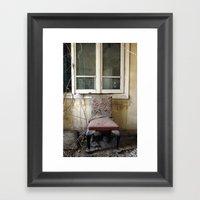 Whore Chair Framed Art Print