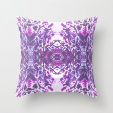 winter in purple Throw Pillow