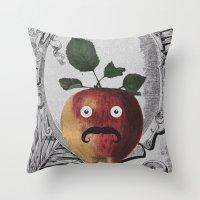 Mr Manzana Throw Pillow