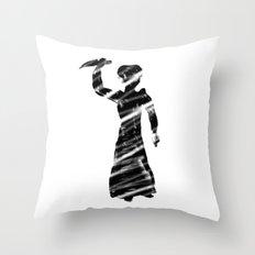 Norman Bates behind the curtain Throw Pillow