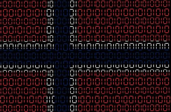 digital Flag (norway) Art Print