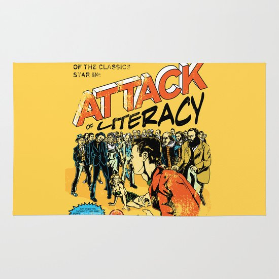 Attack of Literacy Area & Throw Rug