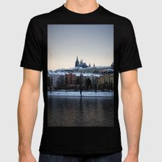 Prague Castle Mens Fitted Tee Black SMALL