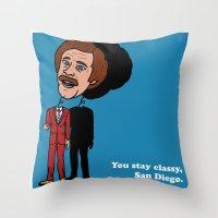 Ron Burgandy Throw Pillow