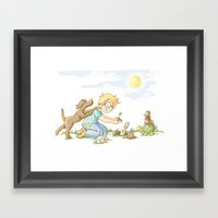 Beginning, Nature, Boy P… Framed Art Print