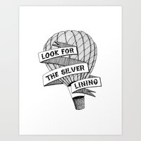Look for the silver lining II Art Print