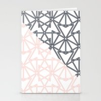 Black And Pink Crop Symm… Stationery Cards