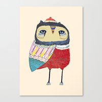 Sweet Owl. Owl, Owl Art,… Canvas Print