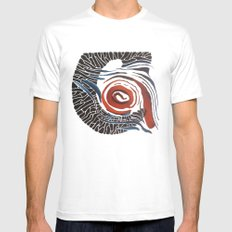 Horn-swirl Mens Fitted Tee SMALL White