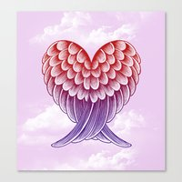 Heart Wings [Pink Versio… Canvas Print