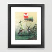 Moth Tx Framed Art Print