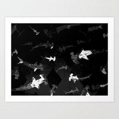 Argyle Frenzy in Shadow Art Print
