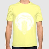SPECTAC-OWL Mens Fitted Tee Lemon SMALL