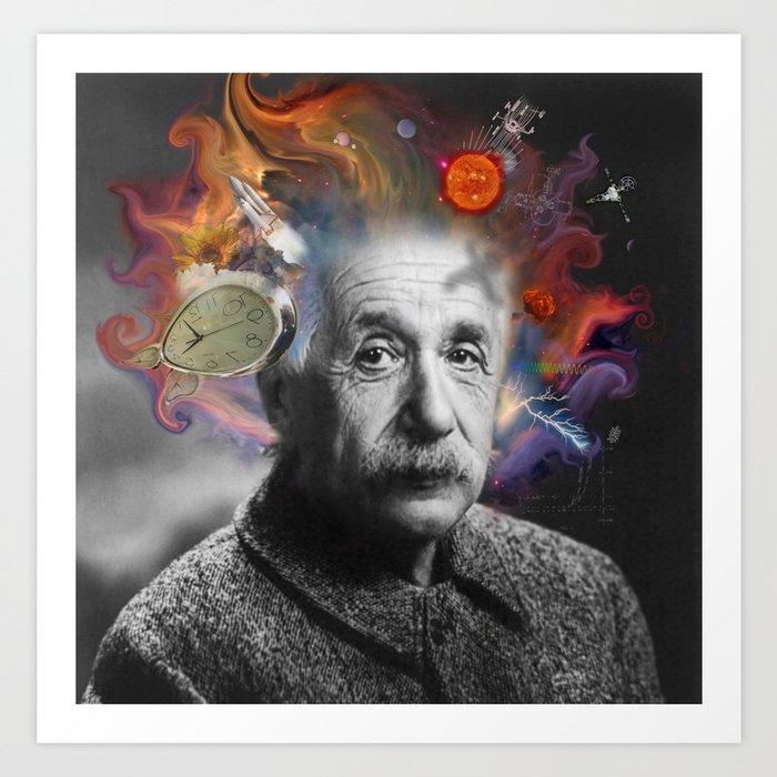 Einstein Hair Art Print by Alexandra Bodman | Society6