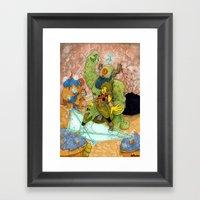 Quick Knight Smoke! Save… Framed Art Print
