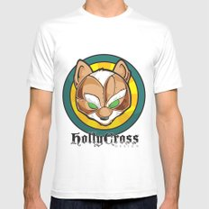 Starfoxxx White Mens Fitted Tee SMALL