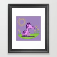 L. Horse Framed Art Print