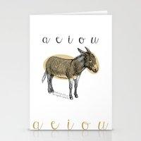 A  E  I  O  U    Borriqu… Stationery Cards