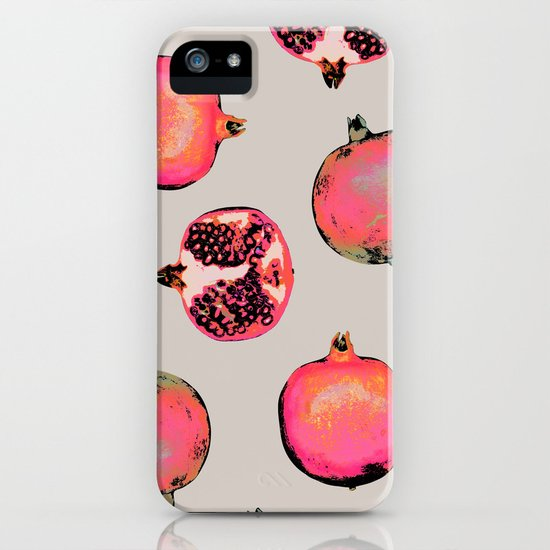 Pomegranate Pattern iPhone & iPod Case