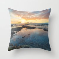 Big Island Sunset Throw Pillow