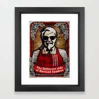 another side of kol. Sanders Framed Art Print