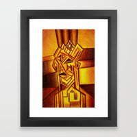 Abstract Autoportrait Framed Art Print