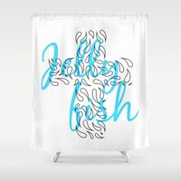 Jellyfish Cross Shower Curtain