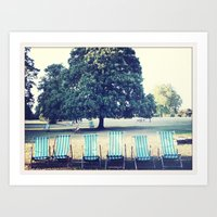Hyde Park Chairs Art Print