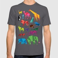 Paper Animals Mens Fitted Tee Asphalt SMALL