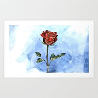 The Little Prince's Rose Art Print