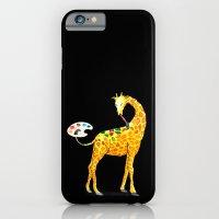 giraffe iPhone & iPod Cases featuring Giraffe by gunberk