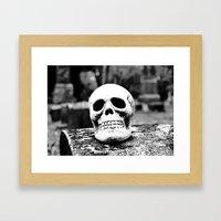 Graveyard horror Framed Art Print