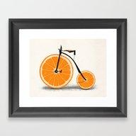 Framed Art Print featuring Vitamin by Speakerine / Florent…