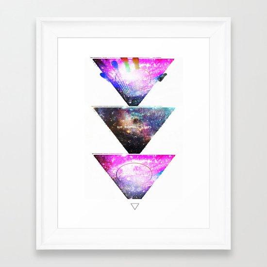 We Are All Stars Framed Art Print