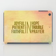 iPad Case featuring Romans 12:12 Joyful | Fa… by Pocket Fuel