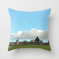 sitting on top of the world... Throw Pillow