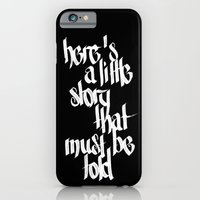 iPhone & iPod Case featuring here's a little story that must be told - two by artknocklife