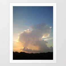 Cream Cloud Art Print