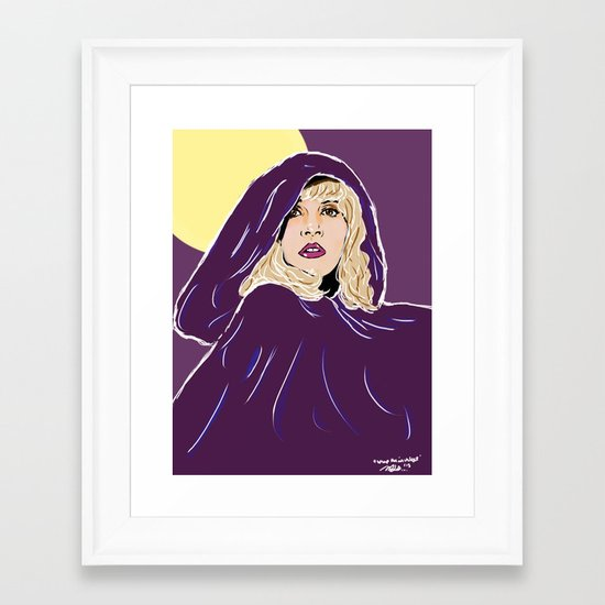 Wrap Her In Velvet Framed Art Print