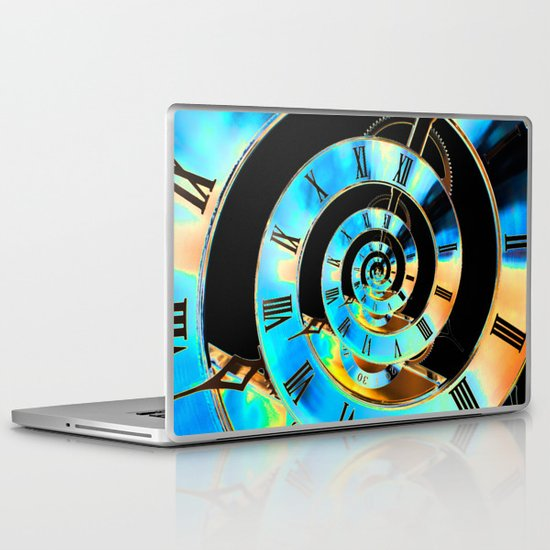 Infinite Time Blue Laptop & iPad Skin