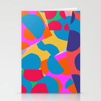Pastel cut outs Stationery Cards