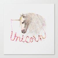 Pink Unicorn Canvas Print