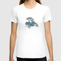 Oriental FanTasy Womens Fitted Tee White SMALL