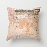 Ancient Marble Doorframe… Throw Pillow