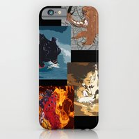 iPhone & iPod Case featuring The Elemental Fiends by MyQ 7