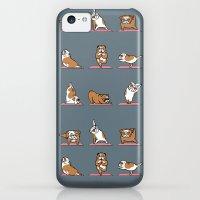 iPhone 5c Cases featuring English Bulldog Yoga by Huebucket